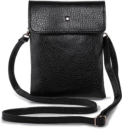 Vegan Leather Crossbody Bag Cell Phone