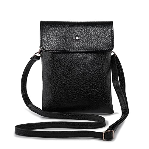 727ad5235a72 Small Crossbody Bag PU Leather Wallet Purse Women Cellphone Pouch  w/Shoulder Strap + Katloo Nail Clipper
