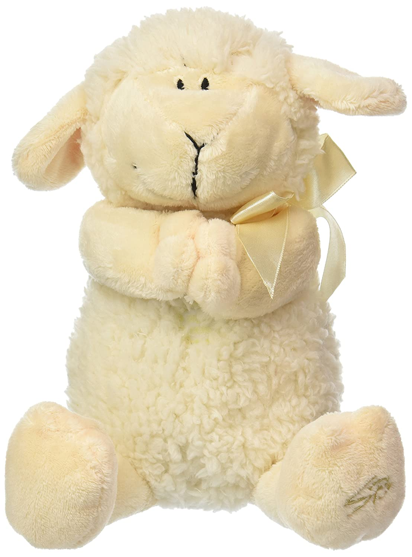 Stephan Baby Ultra Soft and Huggable Musical Praying Woolly Lamb, Cream