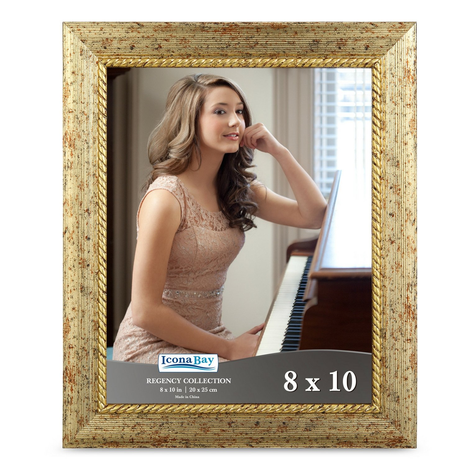 Amazoncom Icona Bay 8x10 Picture Frame 1 Pack Gold Gold Photo