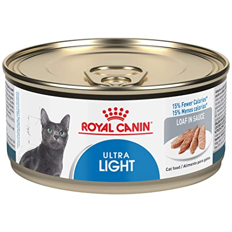 Royal Canin Feline Health Nutrition Ultra Light 15% Fewer Calories Loaf in Sauce Canned Cat