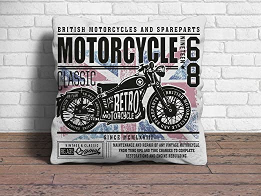 Oedim Cojín 40 x 40 cm Motorcycle: Amazon.es: Hogar