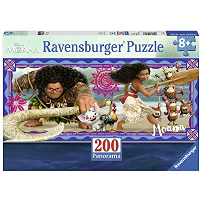 Ravensburger Disney Moana - Moana's Adventure 200 Piece Jigsaw Puzzle for Kids – Every Piece is Unique, Pieces Fit Together Perfectly: Toys & Games