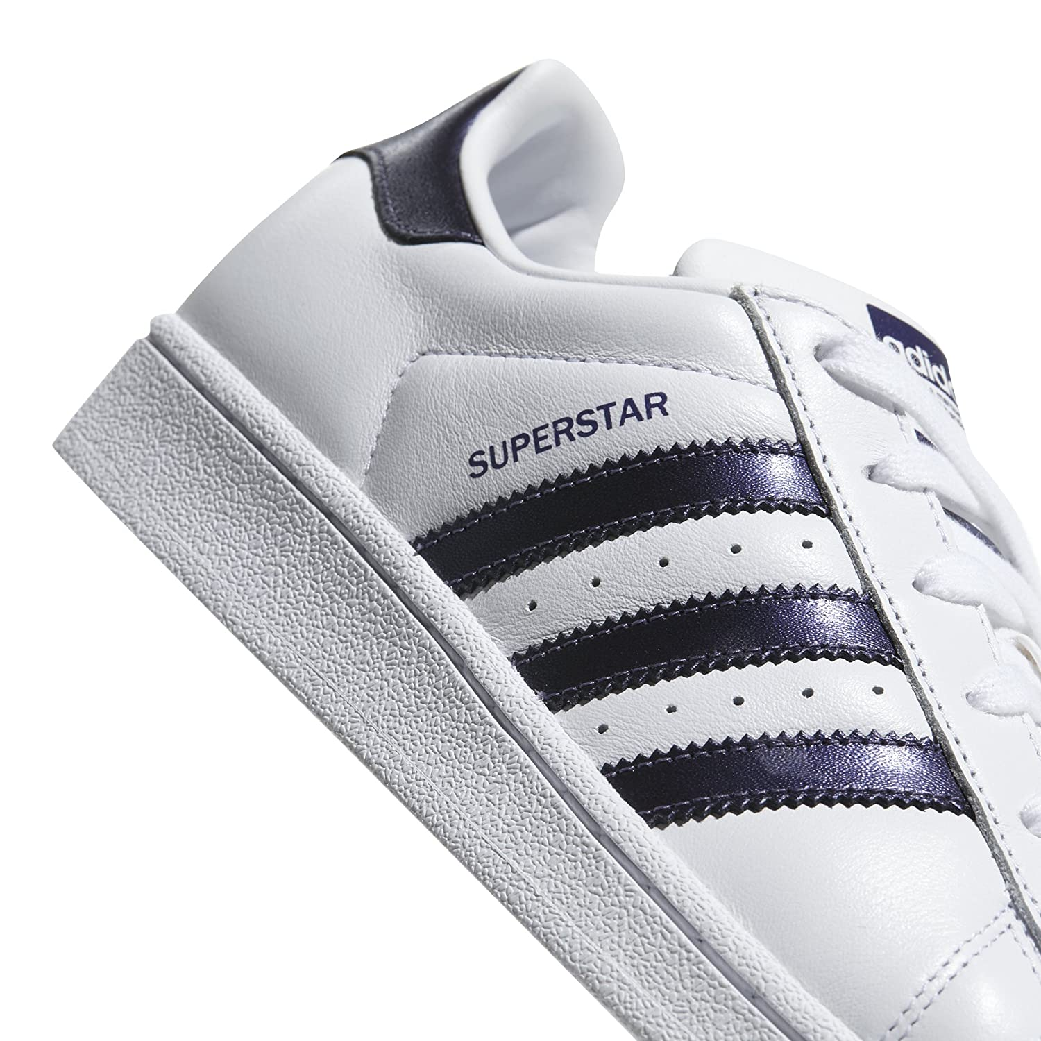 adidas Women's Originals Superstar B071LFHGXQ 11 B(M) US|White/Purple Night/White
