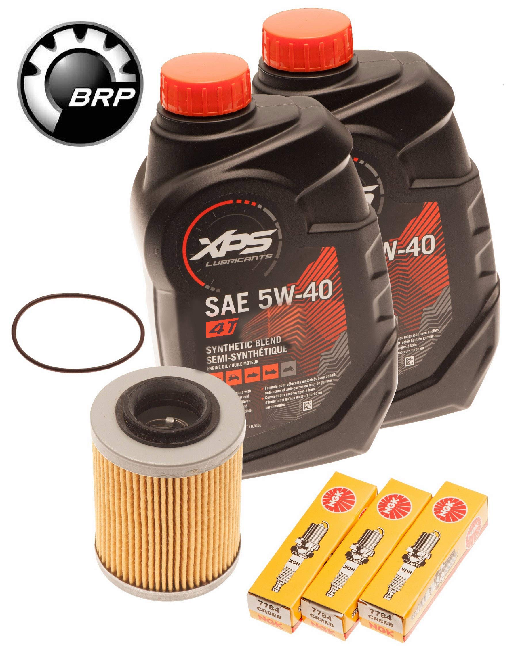 Sea Doo Spark 900 Oil Change Kit W/ Filter O-Ring & NGK Spark Plugs by BRP Sea Doo
