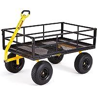 Gorilla Carts 1400 lb. Super Heavy Duty Steel Utility Cart (Black)