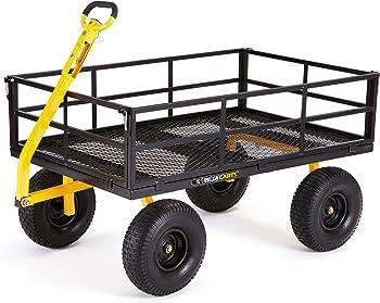 Gorilla Carts 1400 lb. Super Heavy Duty Steel Utility Cart