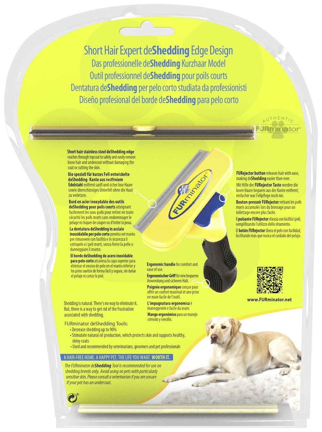 Furminator Herramienta de muda para Perros Grandes de Pelo Corto L: Amazon.es: Productos para mascotas