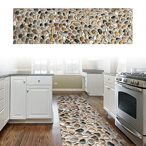 Amazon.com: ChasBete Non-Slip Kitchen Floor Mat Slip Resistant Home ...