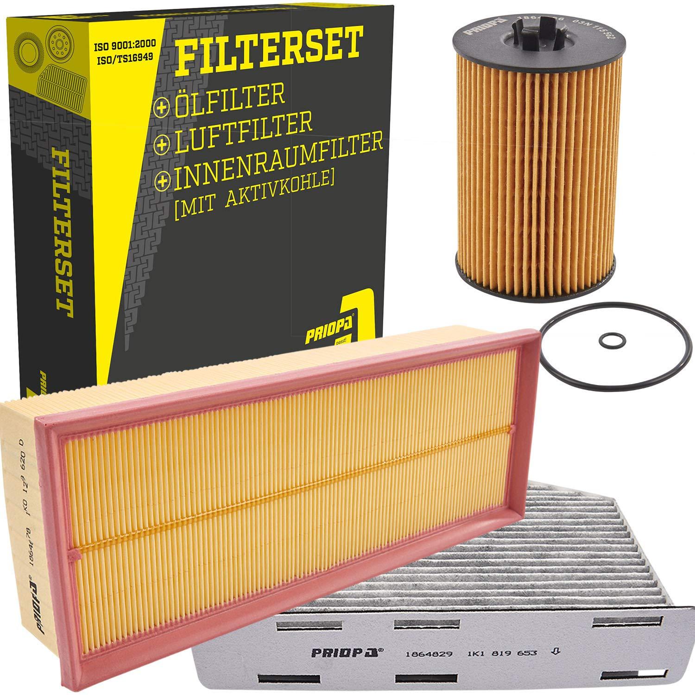 PRIOPA Filter-Set Inspektionspaket Filterpaket Ö lfilter Luftfilter Innenraumfilter, 1864667 1864678 1864829 R.O.D. Leichtmetallräder Priopa
