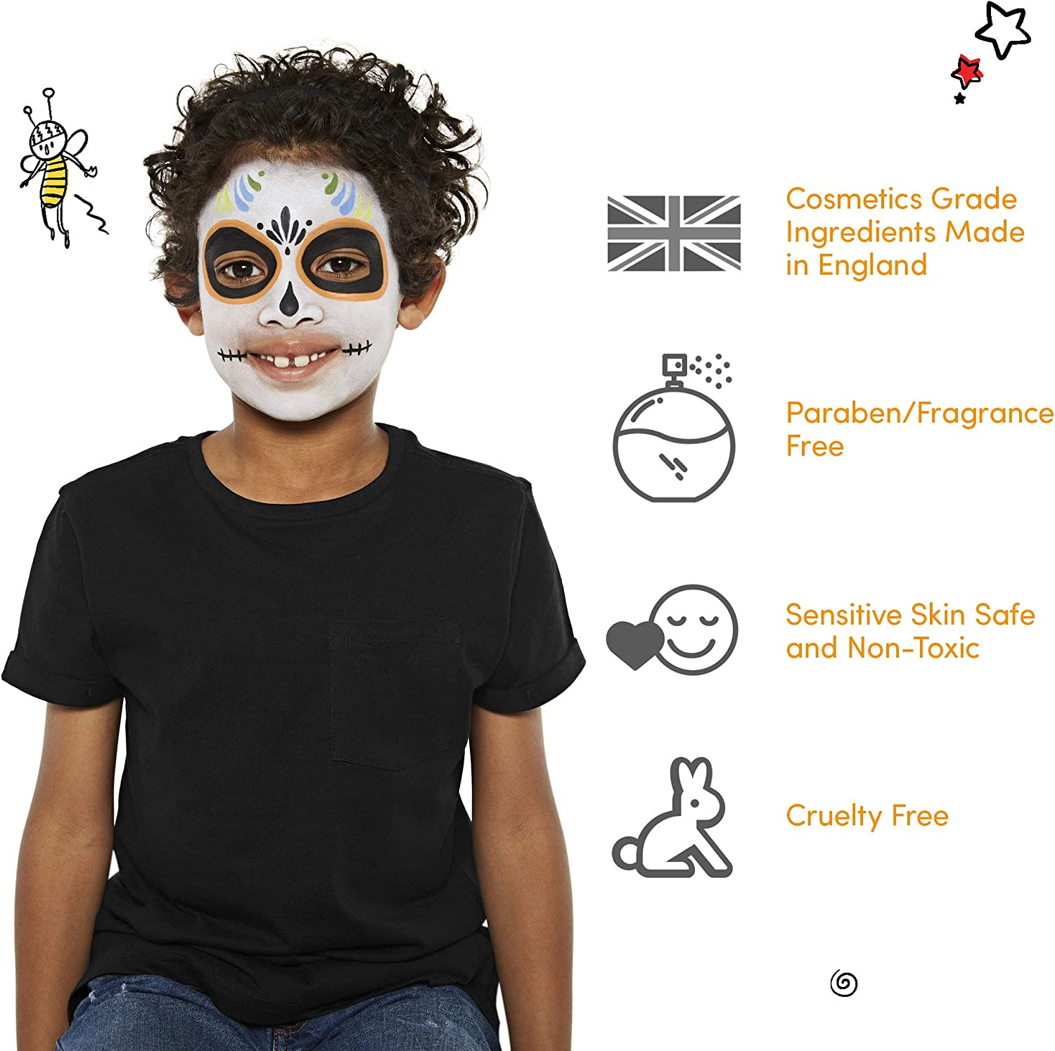 Snazaroo Face Paint Clown White