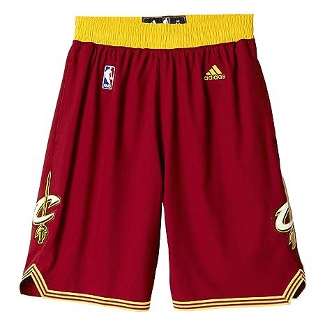 adidas Pantaloncini Uomo Squadra dell NBA Cleveland Cavaliers 53de8a154594