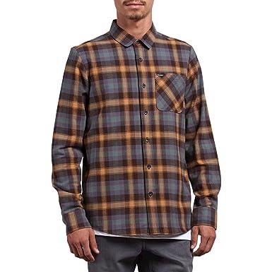 90a7036c2 Amazon.com: Volcom Men's Caden Classic Flannel Long Sleeve Shirt: Clothing