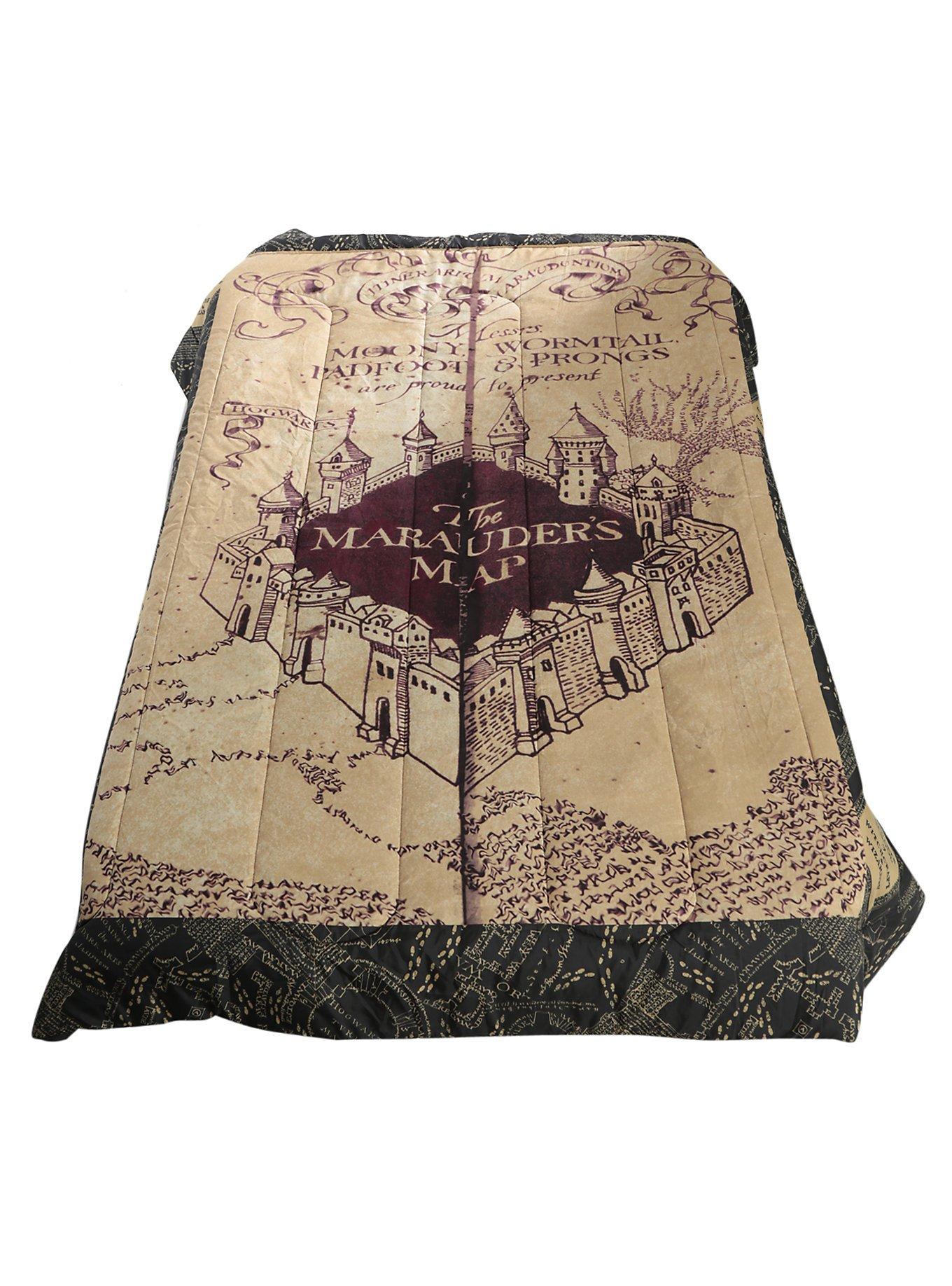 Harry Potter Marauders Map Full/Queen Comforter Bed Spread