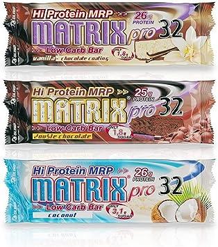 Olimp Sport Nutrition Matrix Pro 32 Proteína Batido, Sabor Vainilla con Chocolate - 20 Unidades
