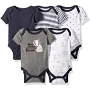 Rene Rofe Baby Baby Collection Unisex 5-Pack Bodysuits, Heritage Comes Trouble, 6-9 Months