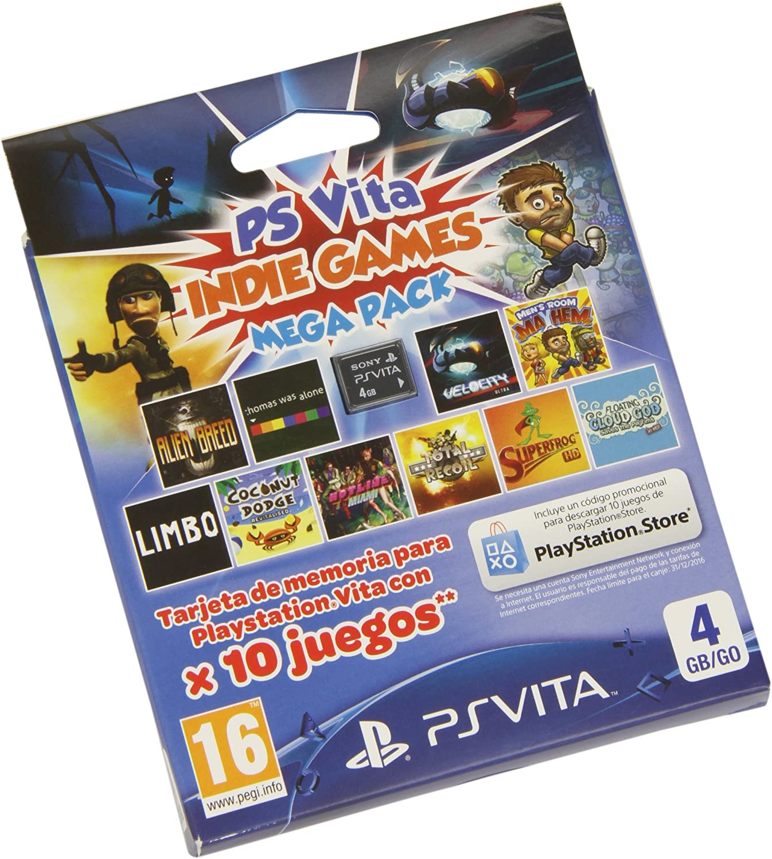 Sony - Tarjeta PS Vita 4 GB + Mega Indie Pack: Amazon.es: Videojuegos