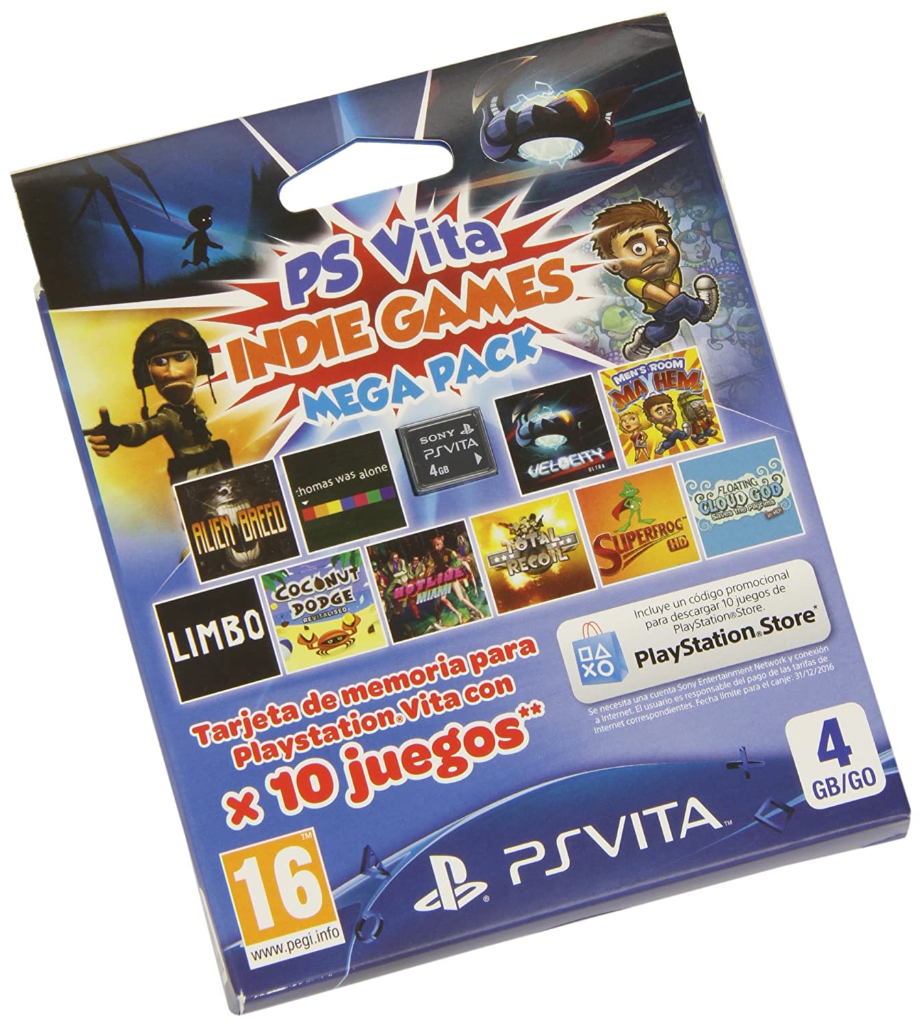 Sony - Tarjeta PS Vita 4 GB + Mega Indie Pack: Amazon.es ...
