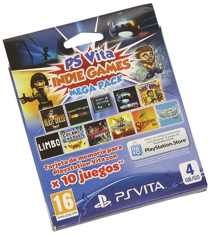 Sony - Tarjeta PS Vita 4 GB + Mega Indie Pack: Amazon.es ...