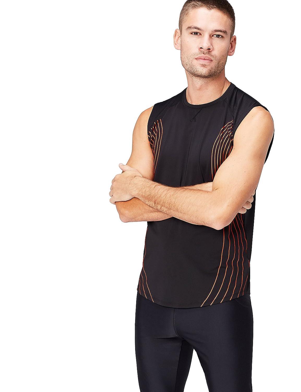 Marchio Activewear Canotta Sportiva Uomo Traspirante