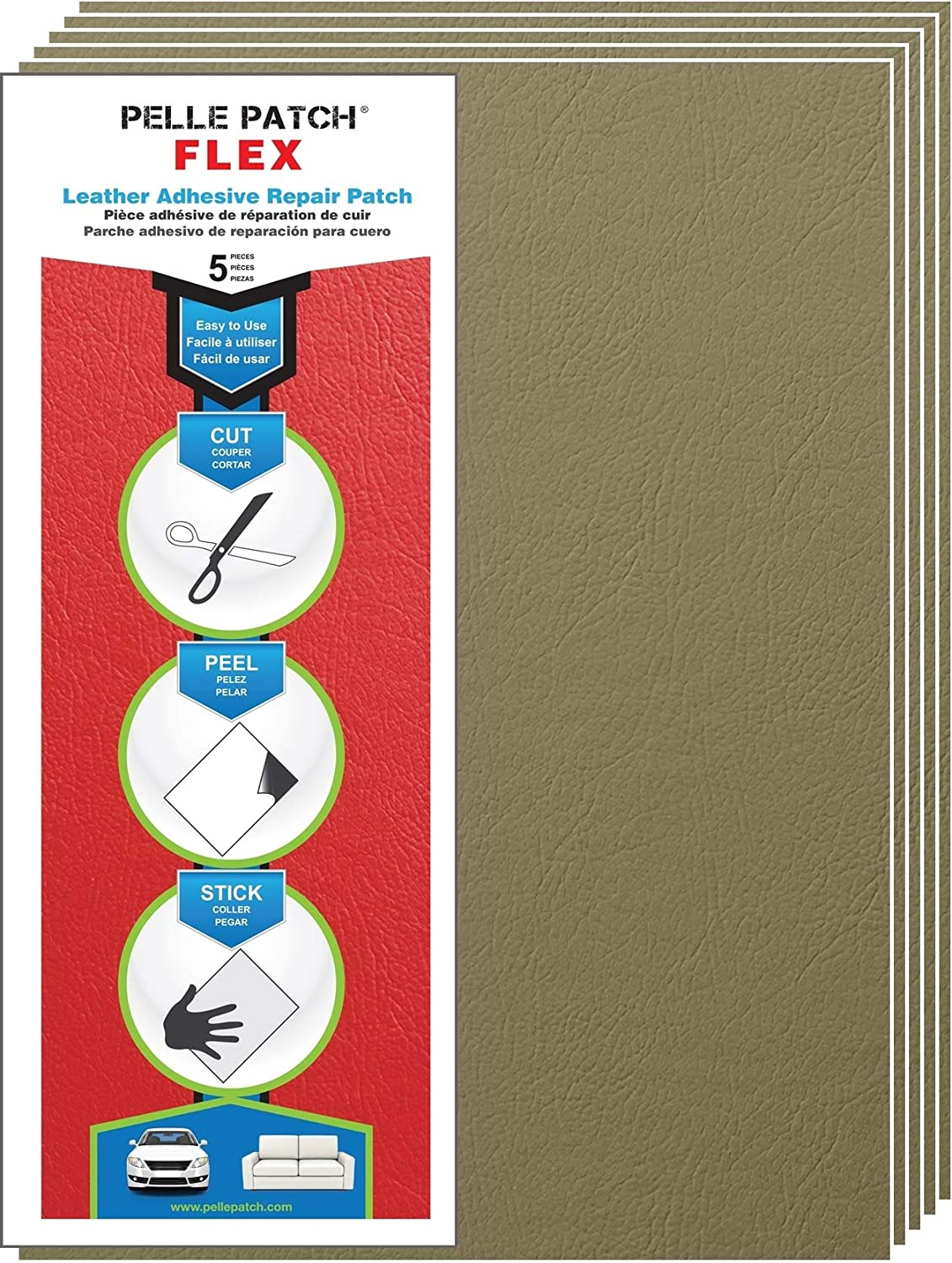 Off-White 5X Leather /& Vinyl Adhesive Repair Patch Pelle Patch 25 Colors Available Flex 8x11