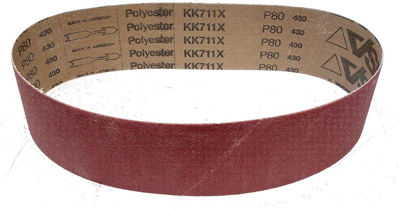 5 St/ück 75 x 762 mm K/örnung: P180 VSM KK711X Schleifband