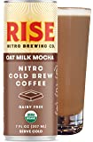 RISE Brewing Co.   Oat Milk Mocha Nitro Cold Brew Latte (12 Pack) 7 fl. oz. Cans - Organic, Non-GMO   Vegan & Non-Dairy   Draft Nitrogen Pour, Clean Energy, Low Acidity & Refreshingly Smooth