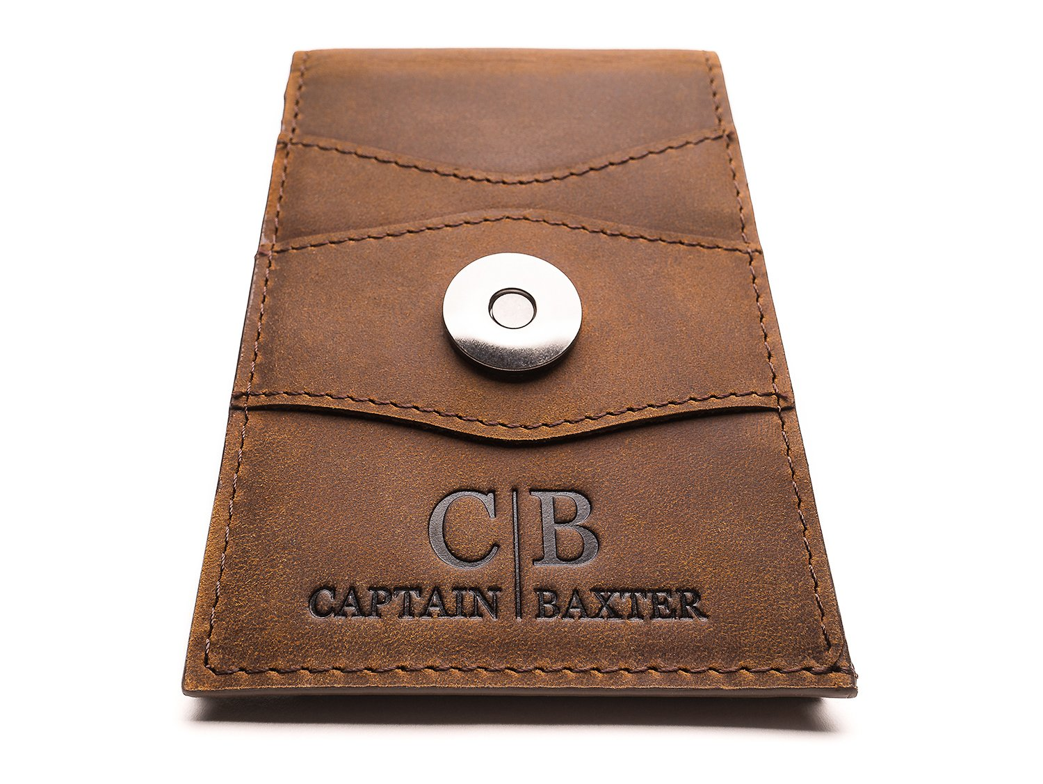 Mens Brown Minimalist Bifold Wallet - Premium Crazy Horse Genuine Leather - Advanced RFID Secure Blocking - Small and Slim Fits Comfortably as a Front Pocket Wallet-Ideal Gift-Wallet For Men