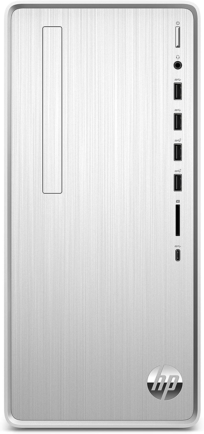 HP Pavilion Desktop Computer, AMD Ryzen 5 3400G, 12GB RAM, 512 GB SSD, Windows 10 (TP01-0040, Silver)