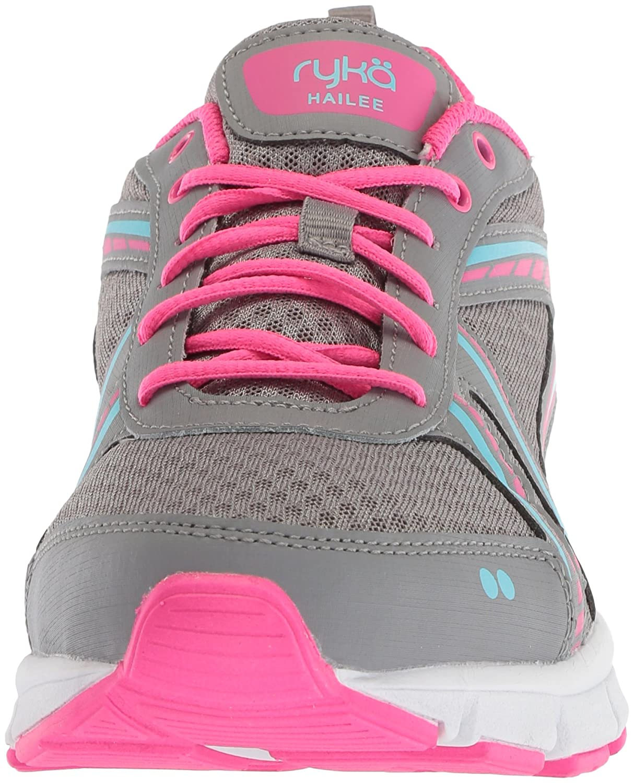 Ryka Women's Hailee Cross Trainer B076D3BH3W 10 W US|Grey/Pink/Blue