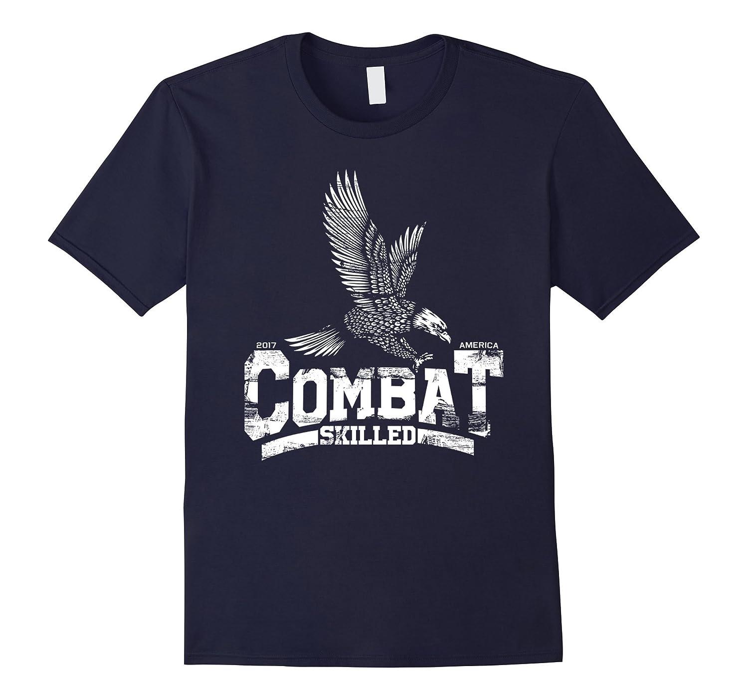 Combat Skilled  army veteran patriotic t-shirt-TH