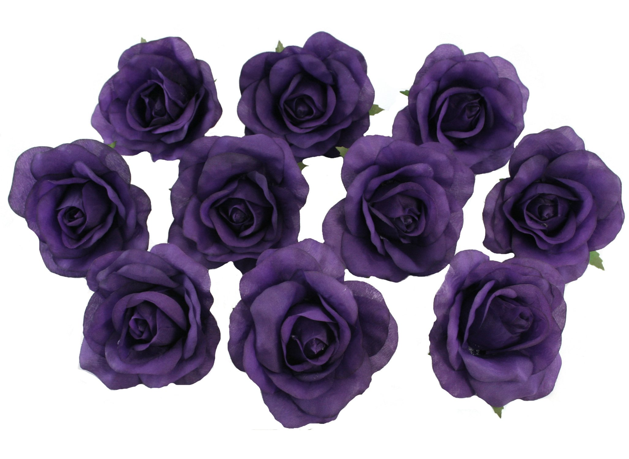 10-Purple-Rose-Heads-Silk-Flower-WeddingReception-Table-Decorations-Large