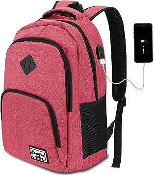 Herren Rucksack,Schulrucksack Jungen Teenager mit mit USB-Ladeanschluss f/ür Reisen Camping Schule Arbeit B/üro
