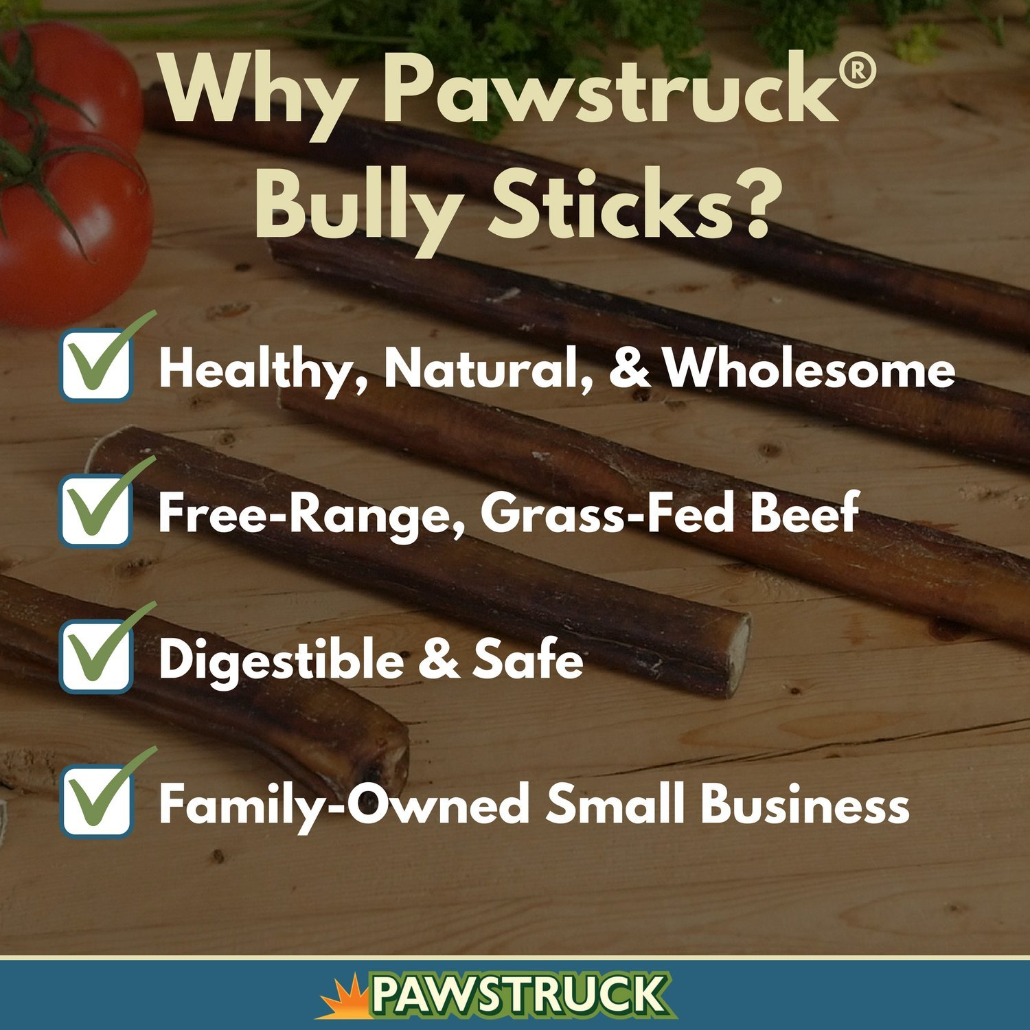 Pawstruck 5 Straight Bully Sticks for Dogs X-Large Thickness All Natural Odorless Bully Bones Long Lasting Chew Dental Treats Best Thick Bullie Sticks for K9 or Puppies Grass-Fed Beef