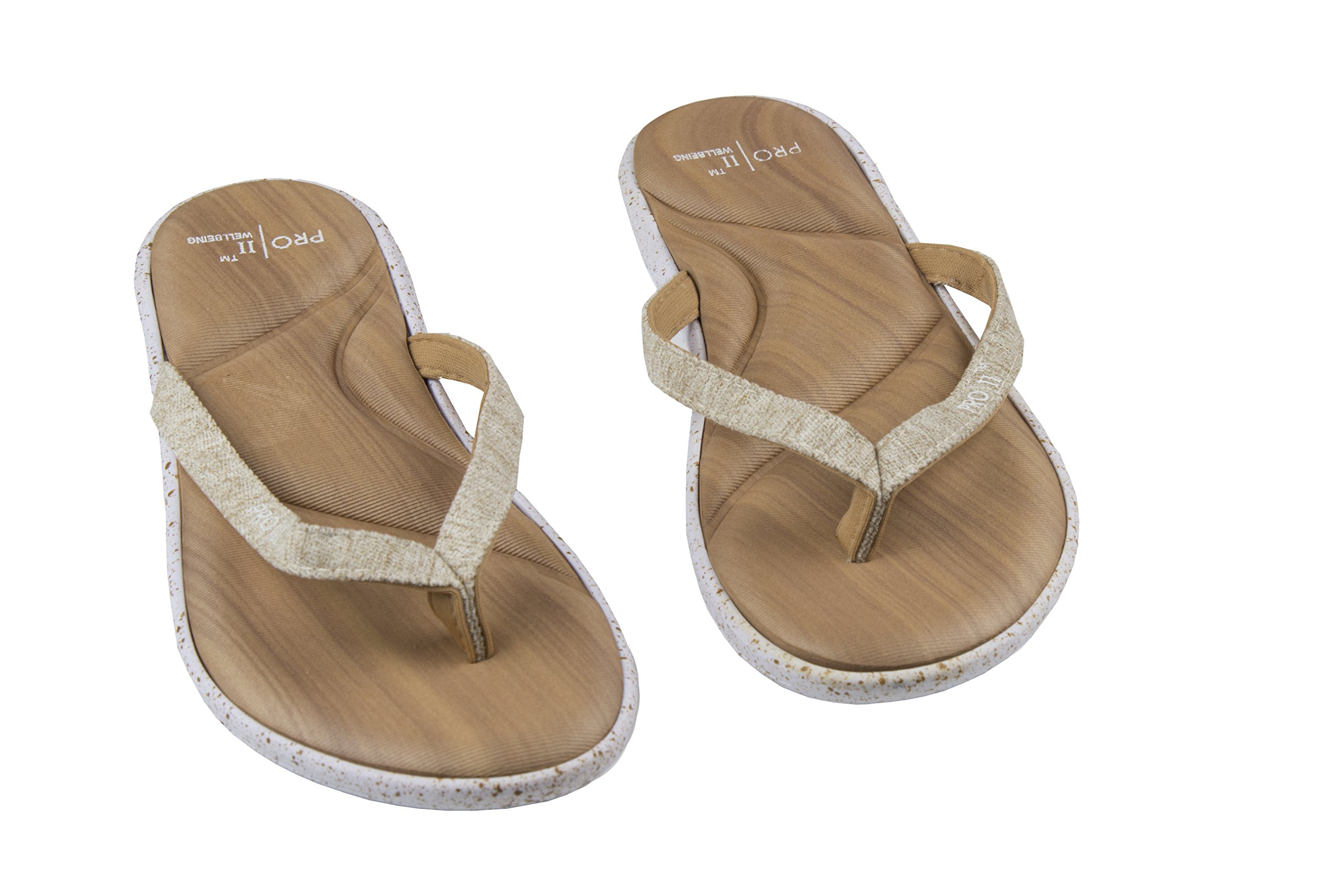 Pro 11 wellbeing Womens Orthotic sandals Tan