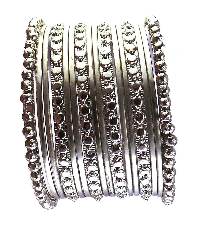 Modish Look Silver brass Bangle Set for Girl