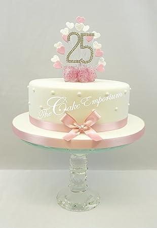 Kuchen Dekoration Kuchen Topper Herz Burst Spray Mit 25 Geburtstag