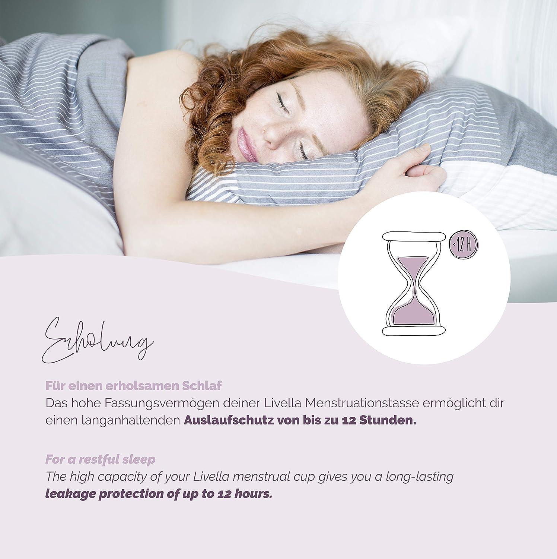 Copa Menstrual de Livella / Calidad alemana / Tamaño (L) / higiene sostenible / alternativa para tampones y toallas sanitarias / silicona médica libre ...
