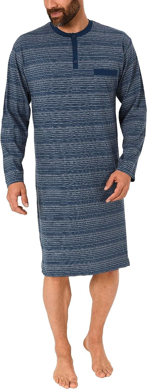 auch in /Übergr/össen 291 110 90 773 Normann Herren Nachthemd Langarm Streifenoptik