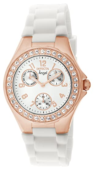 Invicta 1646 Angel Reloj para Mujer acero inoxidable Cuarzo Esfera blanco: Amazon.es: Relojes