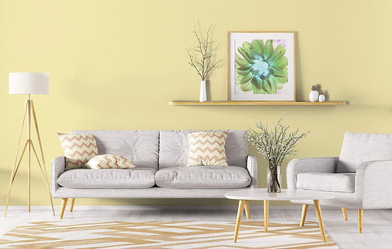 Novamur Papier peint intiss/é moderne et doux Couleur unie Pour salon chambre couloir ou cuisine Vert clair Vert citron vert jaune Structure l/ég/ère Fabriqu/é en Allemagne