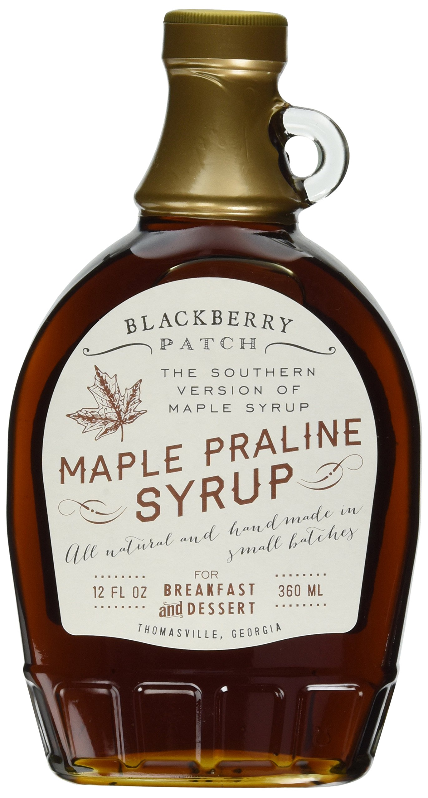 Maple Praline Syrup, Contains SUGAR, 12 oz Bottle