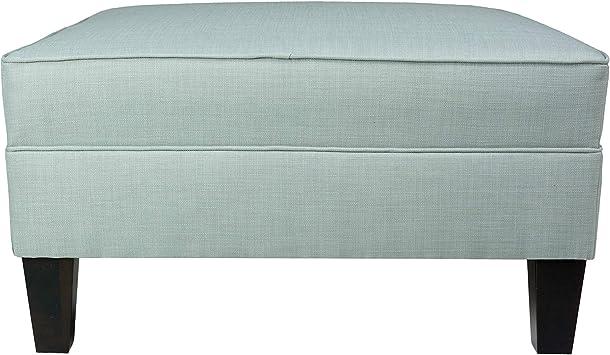 Amazon Com Mjl Furniture Madison Squared Upholstered Welted Oversized Ottoman Blue Furniture Decor