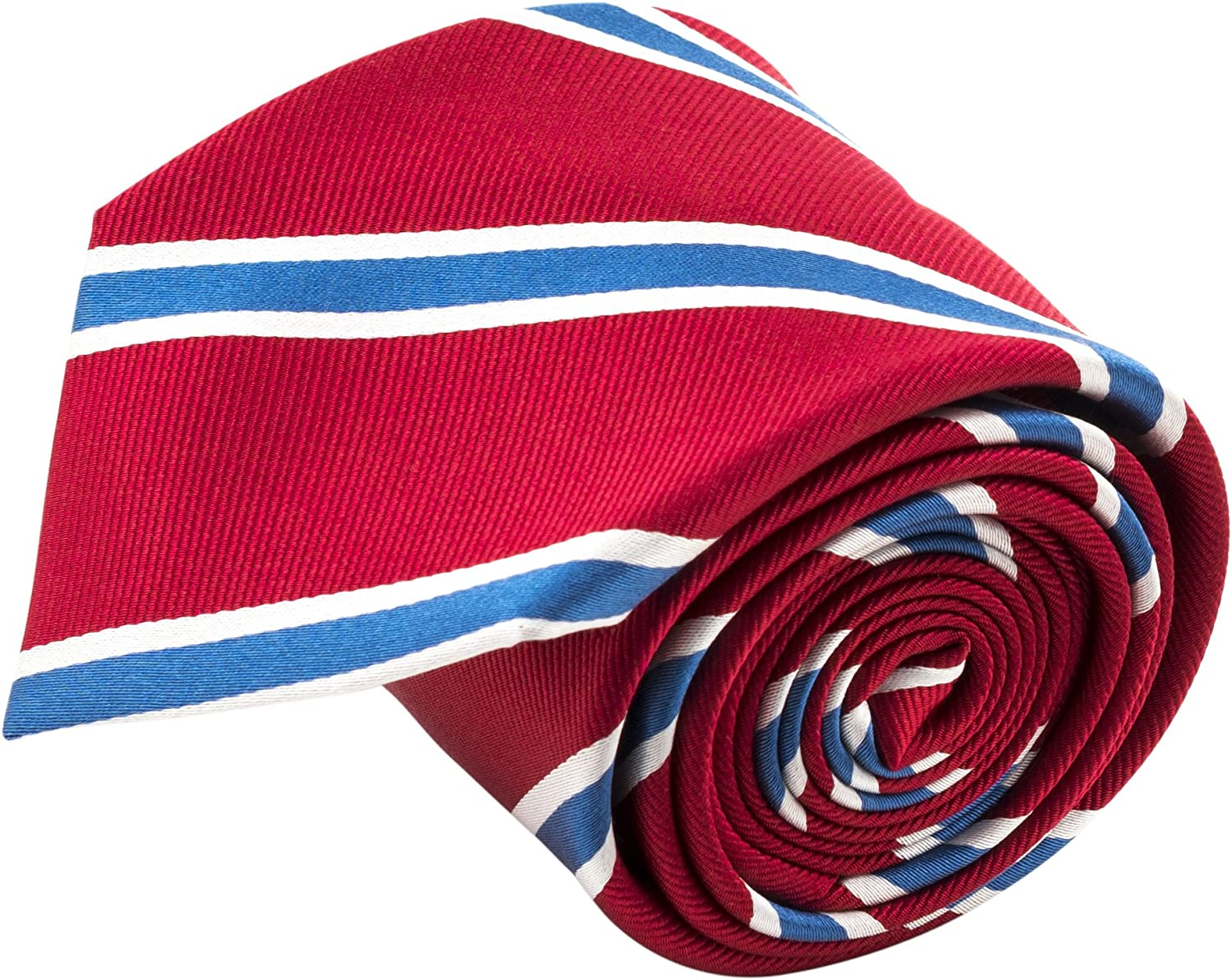 Red and White Check Patterned Handmade 100/% Silk Tie