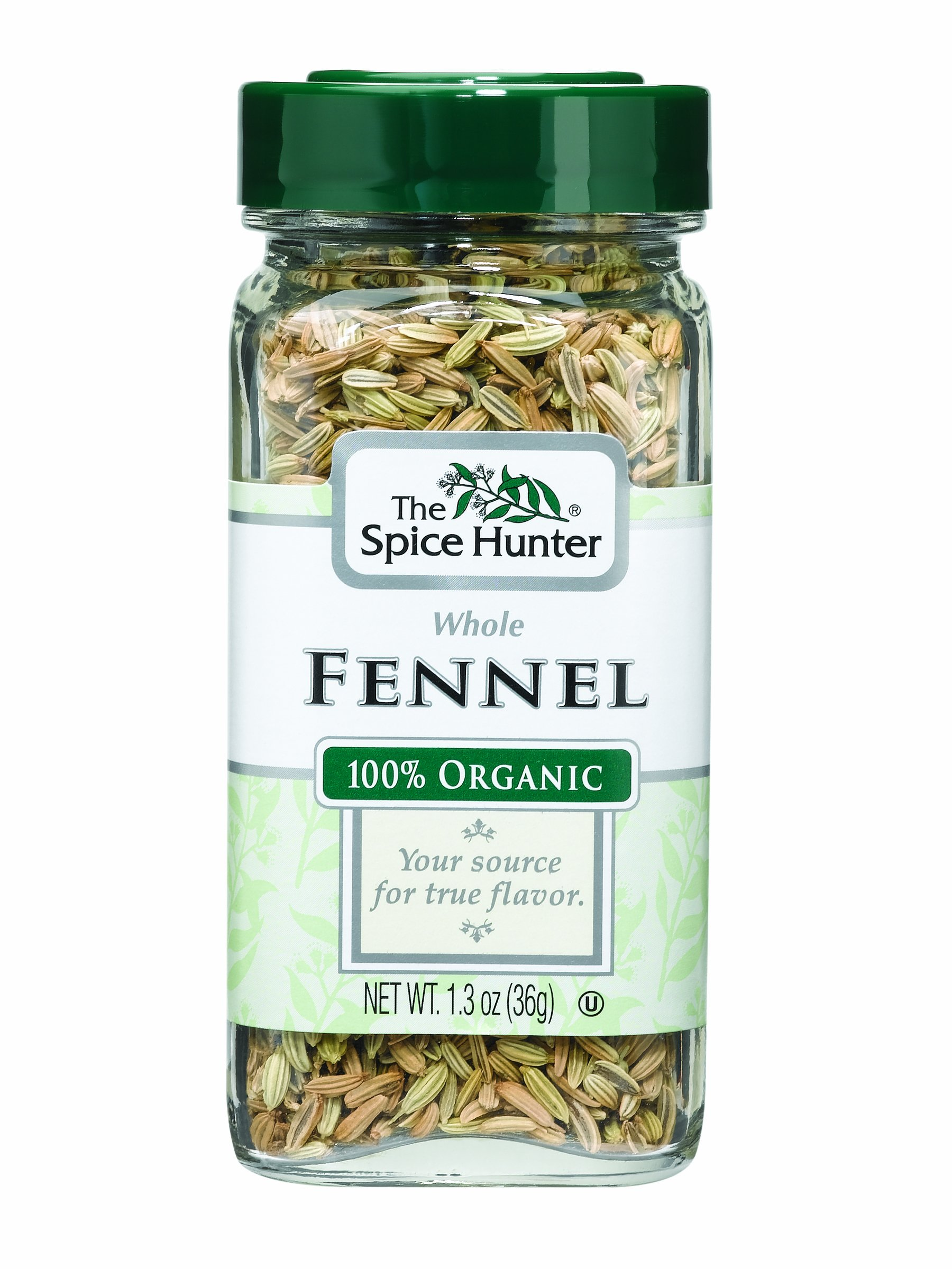 The Spice Hunter Fennel, Whole, Organic, 1.3-Ounce Jars (Pack of 6)
