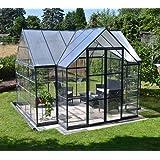 Palram Aluminium Gewächshaus Gartenhaus Orangerie Victory // 305x365x269 cm (LxBxH); Treibhaus & Tomatenhaus zur Aufzucht