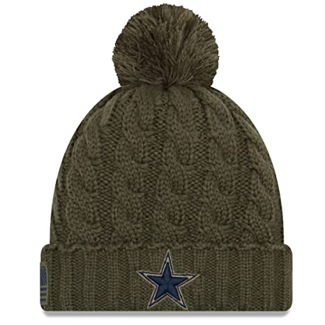 ed4f6f41b New Era Women 2018 Salute to Service Sideline Cuffed Knit Hat – Olive