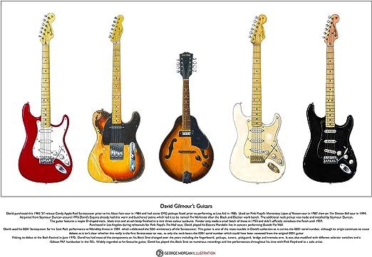 George Morgan Illustration Las Famosas Guitarras de David Gilmour edición Limitada de Bellas Artes de tamaño A3: Amazon.es: Hogar