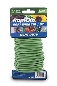 Luster Leaf 858 Rapiclip Soft Wire Tie Light Duty, 32', Green