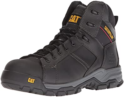 Men's Caterpillar Carbondate Nano Toe Work Boot, Size: 9.5 M, Black Leather
